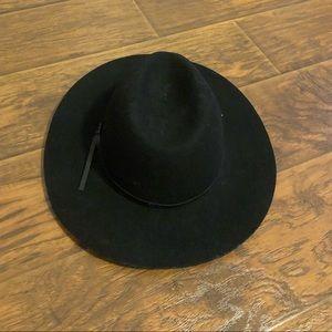 Francesca's Collections Black Floppy Hat